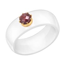 Керамическое кольцо с золотом SOKOLOV (18 р-р)