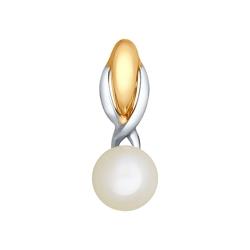 Золотая подвеска (Жемчуг пресноводный) SOKOLOV