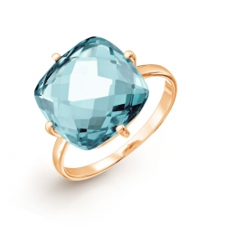 Золотое кольцо с аквамарином ситалл