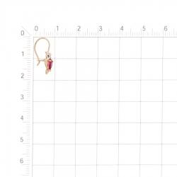 Т142028430-01 детские золотые серьги с фианитами