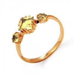 Золотое женское кольцо с цитрином