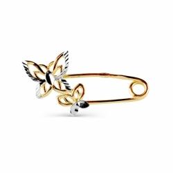 Булавка из желтого золота Бабочки