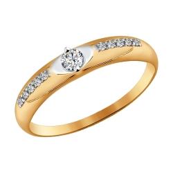 Помолвочное кольцо со Swarovski SOKOLOV