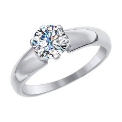 Золотое помолвочное кольцо со сваровски SOKOLOV