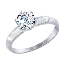 Золотое помолвочное кольцо (Swarovski Zirconia) SOKOLOV