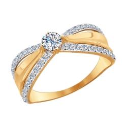 Золотое кольцо (Swarovski Zirconia) SOKOLOV