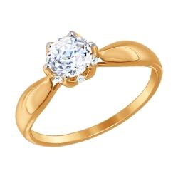 Помолвочное золотое кольцо (Swarovski Zirconia) SOKOLOV