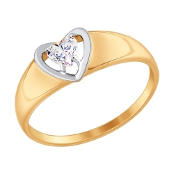 Помолвочное золотое кольцо Love (Swarovski Zirconia) SOKOLOV