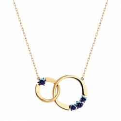 Колье из золота с синими Swarovski Zirconia