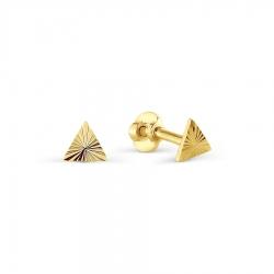 Серьги-гвоздики из желтого золота без камней