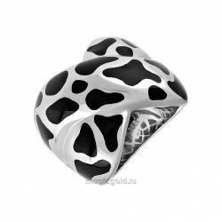 Кольцо без камня с каучуковыми вставками