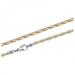 Мужская цепь из золота с золотыми вставками