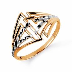 Золотое кольцо Геометрия без камней
