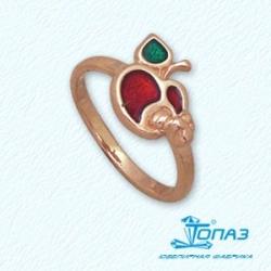 Детское золотое кольцо Фрукты с эмалью