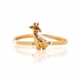 Детское золотое кольцо Жираф без камней