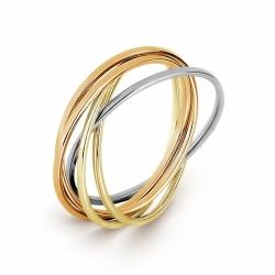 Золотое кольцо Тринити без камней