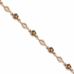 Золотой браслет с раухтопазом