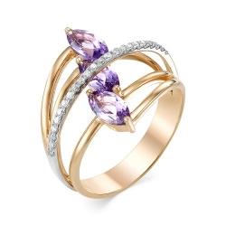Золотое кольцо (Аметист, Бриллиант)