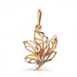 Золотая подвеска Листья