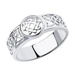 Мужское кольцо из серебра Sokolov