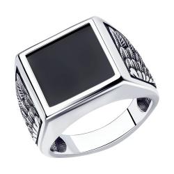 Кольцо из серебра с наношпинелью