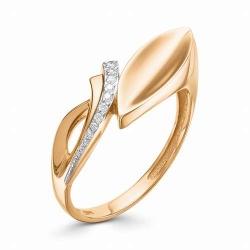 Женское золотое кольцо Растение (Бриллиант)