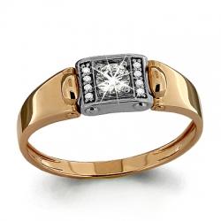 Мужское золотое кольцо с бриллиантом