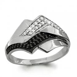Золотое кольцо Геометрия с бриллиантом