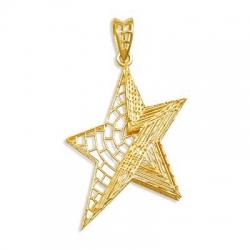 Подвеска Звезда из желтого золота