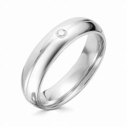 Обручальное кольцо из белого золота (Бриллиант)