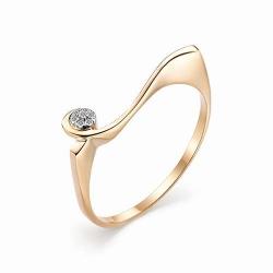 Женское золотое кольцо с бриллиантом