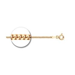 Цепь из золочёного серебра диаметр 0,5 мм, Плетение «Панцирное»