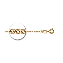 Цепь из золочёного серебра диаметр 0,3 мм, Ромб двойной