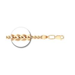 Цепь из золочёного серебра диаметр 0,6 мм, Плетение «Нонна»