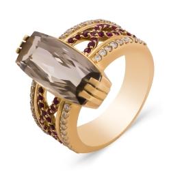 Эксклюзивное кольцо из золота с раухтопазом