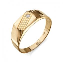 Золотая печатка с бриллиантом