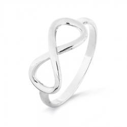 Т300016353 кольцо бесконечность из белого золота