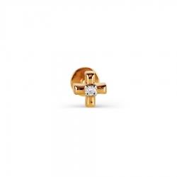 Золотой пирсинг с бриллиантом