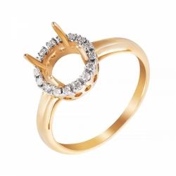 Оправа для кольца из желтого золота с бриллиантом