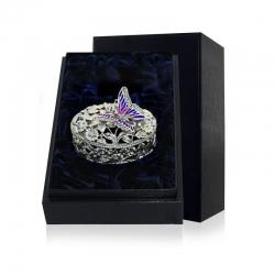 Серебряная шкатулка «Бабочка» с эмалью