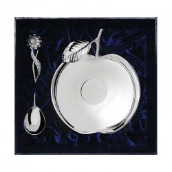 Серебряный набор «Яблоневый сад» из 2 предметов
