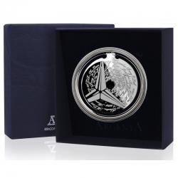 Серебряная закладка для книг «Ретро» Мерседес