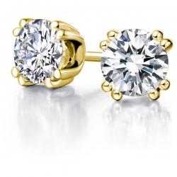 Пусеты из жёлтого золота с бриллиантами