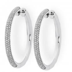 Серьги конго с бриллиантами