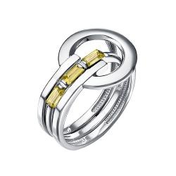 Кольцо-трансформер из серебра с цитринами