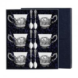 """Набор чайный """"Королевская охота"""" с чернением (12 предметов)"""