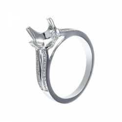 Оправа для кольца из белого золота с бриллиантом