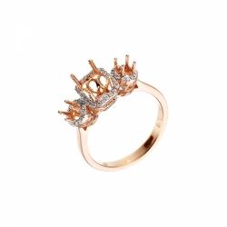 Оправа для кольца из красного золота с бриллиантом