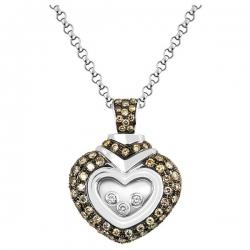 Колье  из белого золота с бриллиантами Сердце