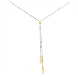 Колье из комбинированного золота с бриллиантами